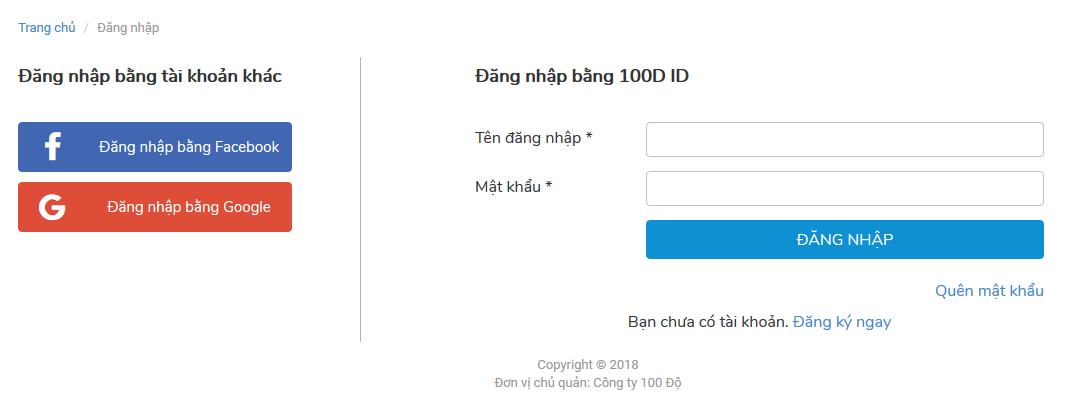 Đăng nhập tài khoản 100D - Tiên Ma truyền Kỳ